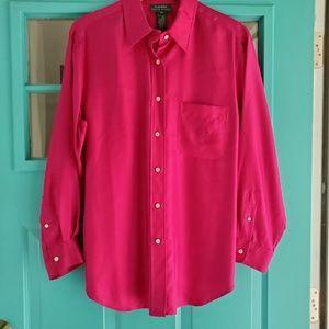 Lauren Ralph Lauren plus size 100% silk shirt